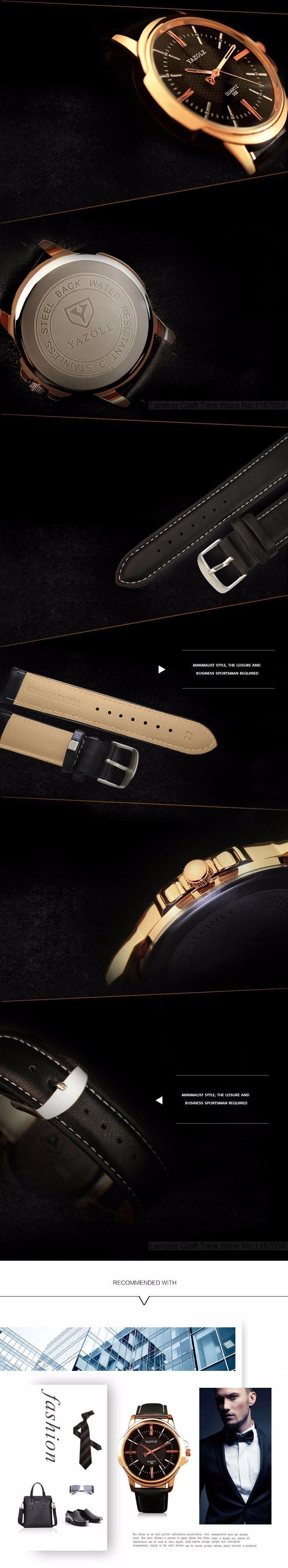 HTB1i9FZKFXXXXc1XFXXq6xXFXXXB - YAZOLE 2017 Rose Gold Luxury Watch for Men
