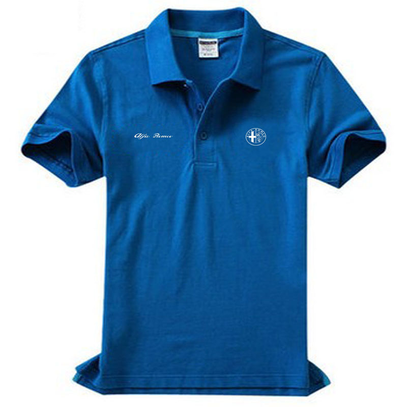 Brand clothing Alfa Romeo logo   Polo   Shirt Casual solid male   polo   shirt Short Sleeve High quality