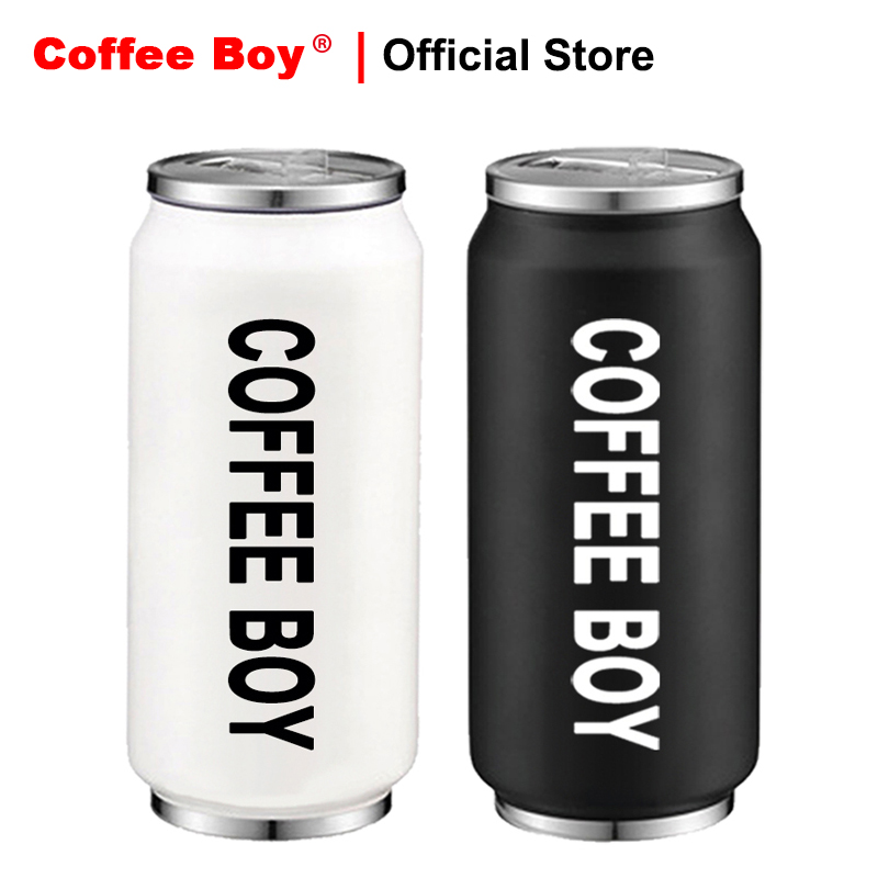 Coffee Boy Outdoor Travel Cup thermo mug termos thermocup 400ml stainless steel Creative Beverage cans with straw thermos bottle