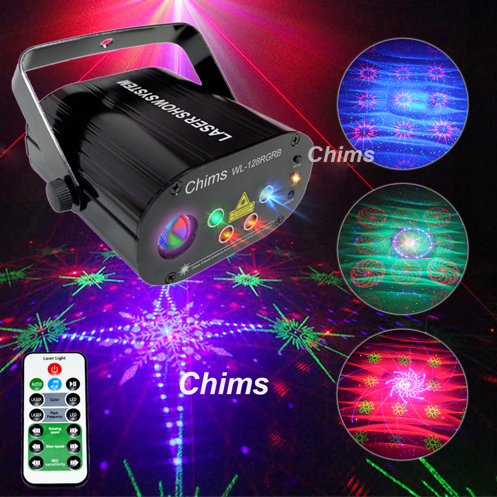 Image 2 - Chims RGB Stage Light Party Laser Light 96 Pattern Laser Projector Led Colorful DJ Music Xmas Disco Light Show Dance DJ Club Bar-in Stage Lighting Effect from Lights & Lighting