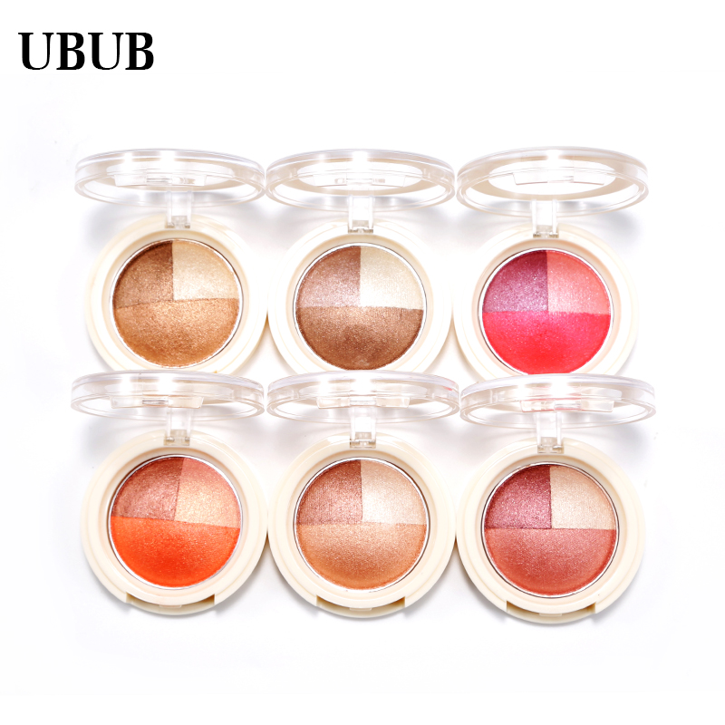 UBUB 3 Colors Eyeshadow Baked Roast Glitter Metallic Nude Smoky Primer Eye Shadow Waterp ...