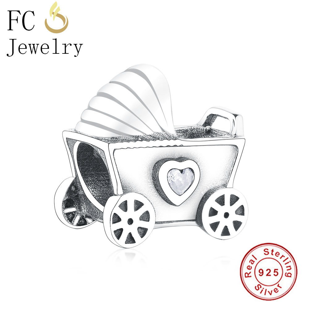 Baby Pram Pandora Charm Us 4 71 32 Off Fit Original Pandora Charms Bracelet 925 Real Sterling Silver Baby Carriage Bead Charm Babies Beads Charms Child Diy Berloques In