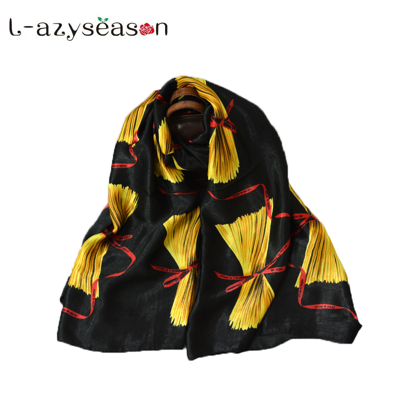 2018 New Autumn Winter Stole Women Scarf print soft black Scarves Luxury brand All-match shawl wraps shemagh hijabs 90X180CM