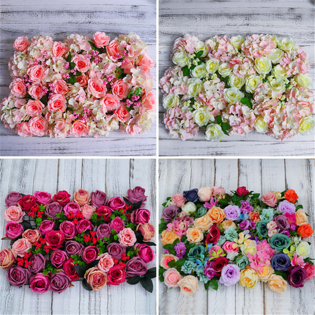 60x40cm plastic flower rose artificial flower wall party backdrop 60x40cm plastic flower rose artificial flower wall party backdrop lawnpillar flower road lead wedding junglespirit Image collections