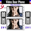 2015 New Big Screen 9 Inch Color Wired Video Door Phone Intercom System 2 Camera 2