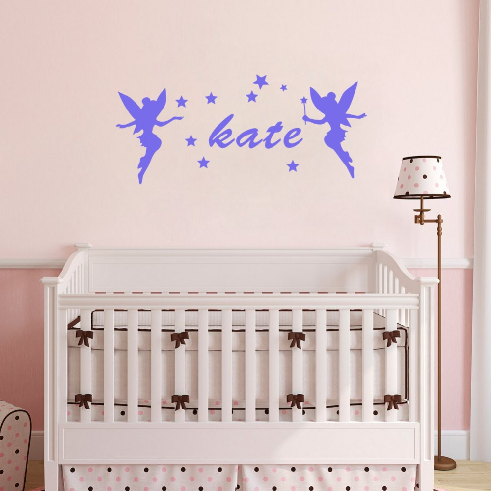 popular stars name buy cheap stars name lots from china stars name two fairies around kids name personalized wall stickers stars decor decals for girls room china