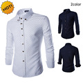 Fashion 2016 Autumn Dress Star Printing Cotton Men Long Sleeve Lapel Shirt Camisa Masculina Homme Hombre Casual Shirt M-XXL