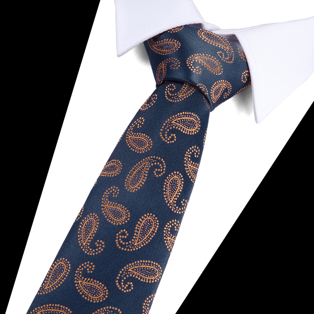 Hot Classic Paisley Yellow Blue JACQUARD WOVEN 100/% Silk Men/'s Tie Necktie