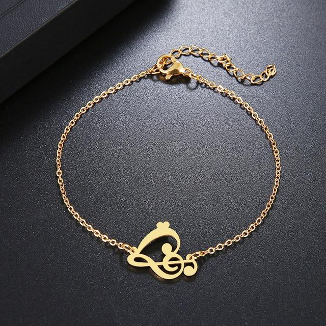 Женский браслет dotifi из нержавеющей стали золотистого и серебристого