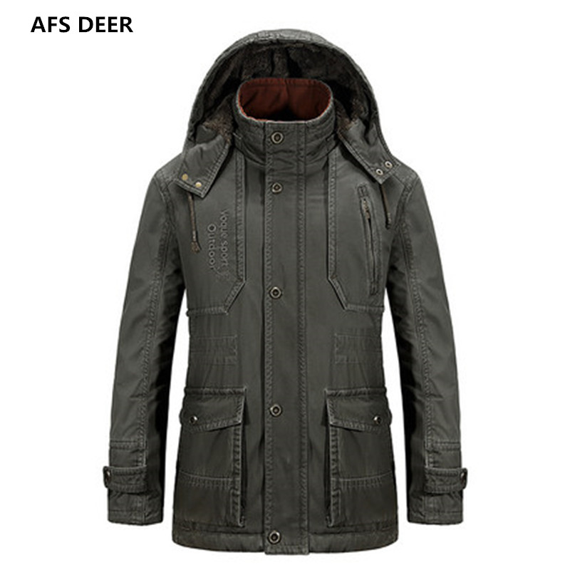 ФОТО 2016 British Style Winter Men Fashion Warm Wool Liner Solid Color Pockets Hoodie Coat Young Boy Leisure Warm Parkas
