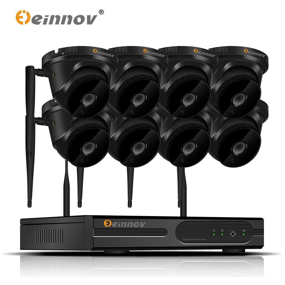 Einnov Nvr-System Wifi Video-Surveillance CCTV Wireless Ip-Dome-Camera Security Outdoor