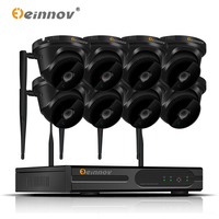 Einnov 8CH 1080P 2MP HDD Home Wireless Security Wifi Outdoor Video Surveillance IP Dome Camera Wi fi CCTV NVR System H.265 P2P