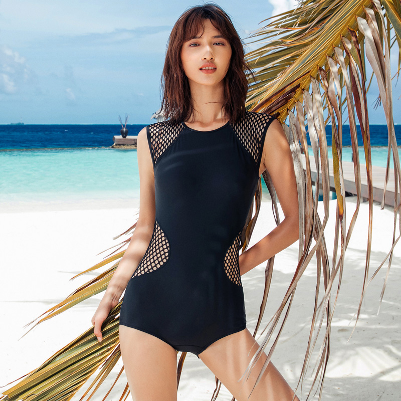 2017 New Arrival One Piece Swimwear Women Black Sexy Swimsuit Crochet Push Up Plus Size Bathing Suit Maillot De Bain Femme one piece swimsuit cheap sexy bathing suits may beach girls plus size swimwear 2017 new korean shiny lace halter badpakken