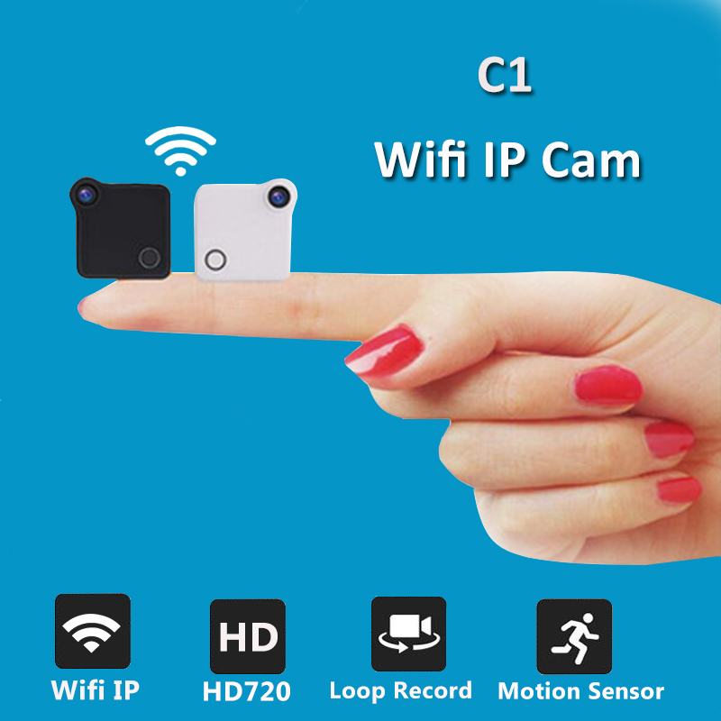 C1 Mini Caméra Wifi IP 720 P HD Corps Caméra H.264 P2P Motion Sensor Micro Caméra Vidéo Numérique Caméscope Sans Fil Vélo Cam