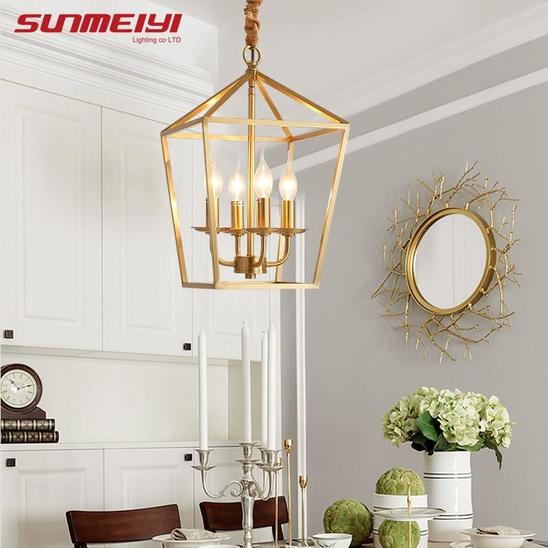 Nordic LED chandeliers Ligthing Fixture Copper Ceiling Chandelier For Living room Kids room kroonluchter Kitchen Chandelier Lamp