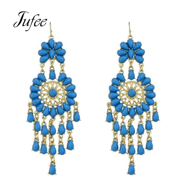 Jufee Luxury Brand Women Jewelry Chandelier Earrings Gold Color ...