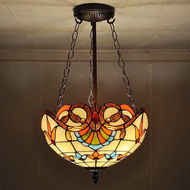 Spiksplinternieuw 30 cmfashion antieke hanglamp tiffany balkon kind echte lampen OY-91
