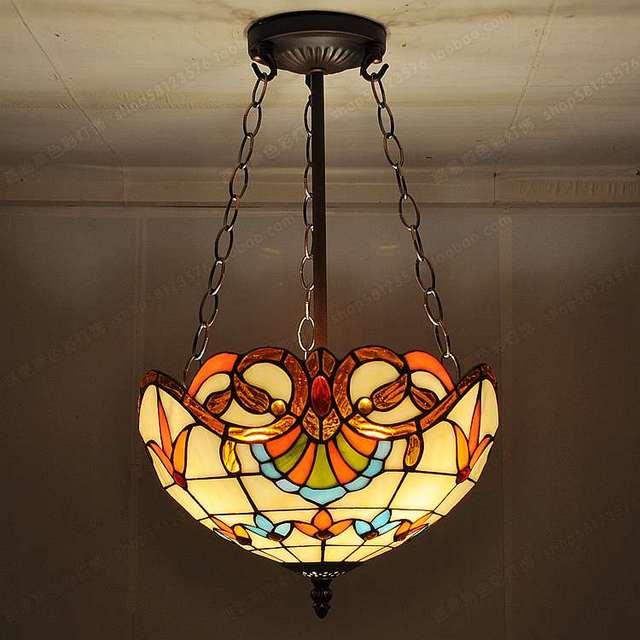 30cmfashion antique pendant light tiffany balcony child real lamps colored glaze lighting european style retro corridor entrance