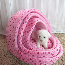 New Cute Fashion Pet Houses High Quality Soft Warm Comfortable Lovely Dogs Mats Pink Rosered Suitable Pet Cusion Dog Beds