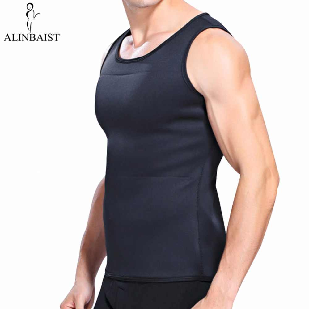 316ca84127 Men s Neoprene Slimming Vest Hot Shapers Body T shirt Sauna Sweat Thermal Waist  Trainer Tank Top