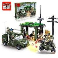 Enlighten 809 Combat Zones Modern Military Vehicles Army Intercept Motorcycle SWAT Model Bricks Building Block Toys