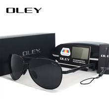 OLEY Unisex polarized Sunglasses Men luxury brand Women Retro pilot Sun Glasses Classic HD black lens polaroid UV400 oculos Y109