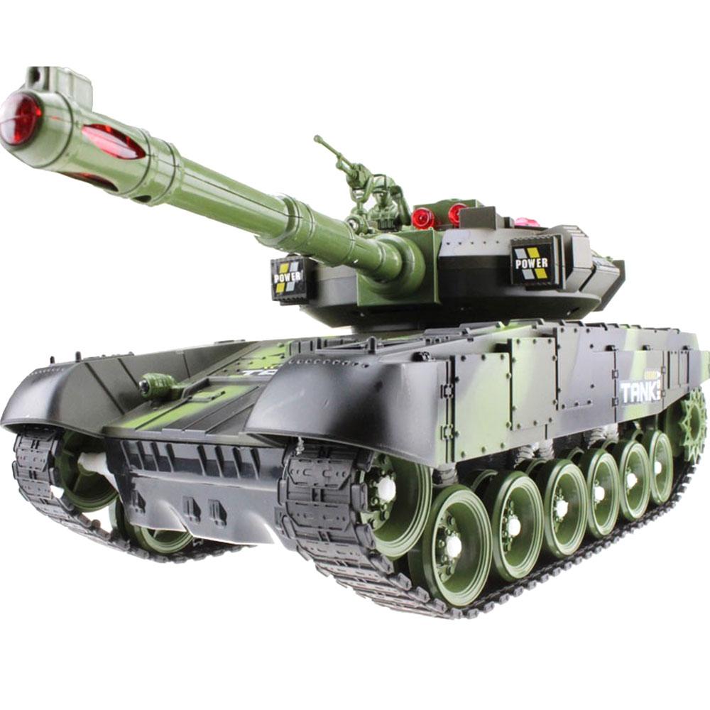 Крутая реалистичная модель танка с дистанционным управлением, многоцветная модель на открытом воздухе, развивающая интерес, модель танка автомобиля - Цвет: Military green