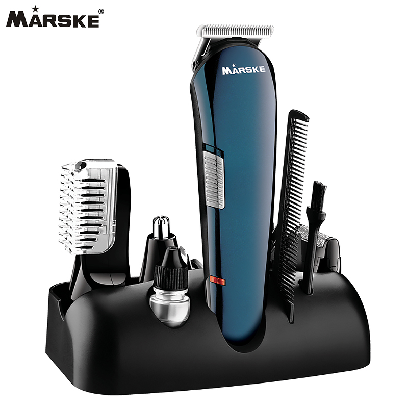 Professional 5 in 1 Haie Shaver Razor Beard Trimmer Rechargeable Hair Trimmer Clipper Set Men Styling Tools Shaving Machine rechargeable washable hair and beard trimmer clipper with accessories set 220 230v ac