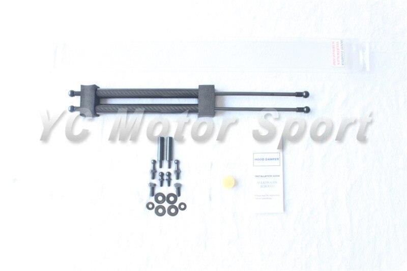 Car accessories carbon fiber twill weaving hood damper fit for volkswagen vw scirocco hood damper bla