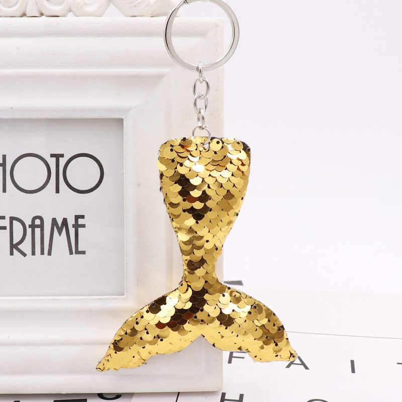 ใหม่ Chaveiro Star พวงกุญแจ Glitter Pompom Sequins unicorn Key ของขวัญผู้หญิงกระเป๋ารถอุปกรณ์เสริมแหวน