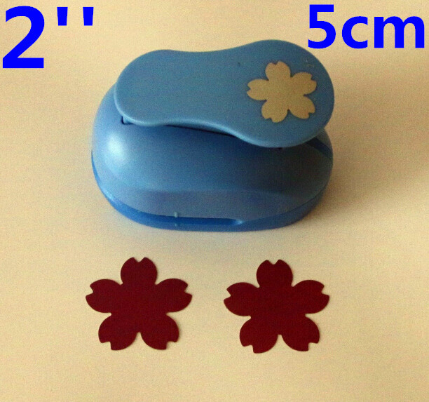 2'' 5cm Cherry Blossoms Paper Punches For Scrapbooking Craft Perfurador Diy Puncher Paper Cutter