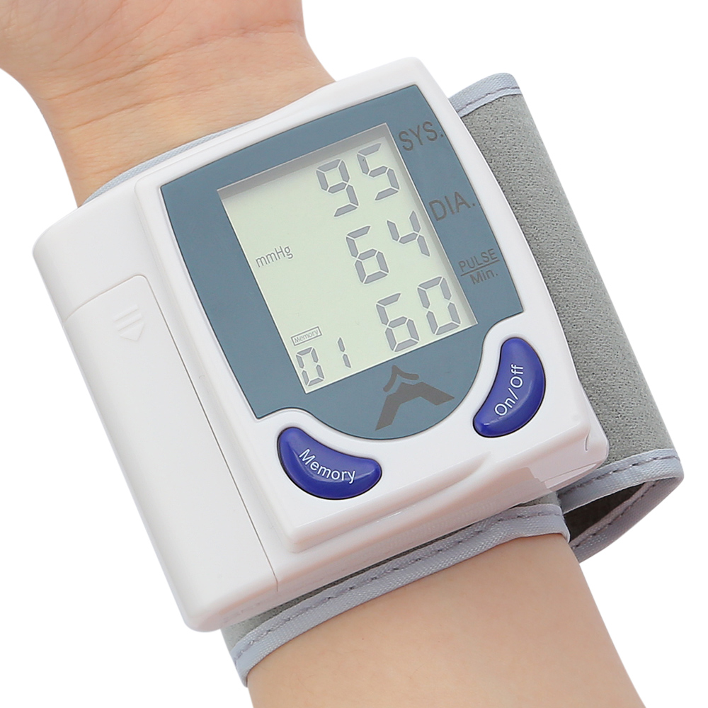 Health Care Automatic Digital LCD Wrist Blood Pressure Monitor Measuring Portable Tonometer Meter For Blood Pressure DIA SYS