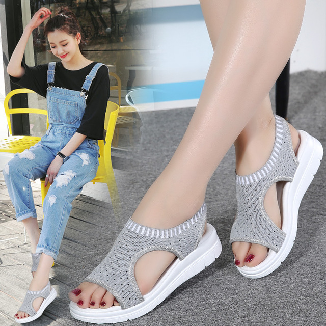 women runing shoes for 2018 summer breathable comfort shopping ladies walking shoes white black running shoes AB74
