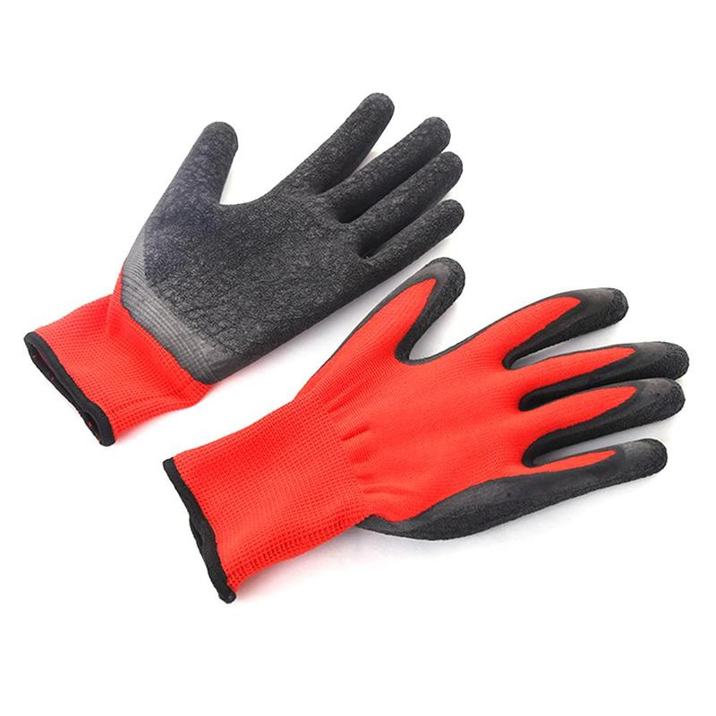 1 Pair Safety Work Gloves Wear-resistant Non-slip Nylon Latex Glove Labor Insurance Safety Working Gloves For Men And Women