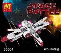 New LELE 35004 Star Wars R4 P44 Arc 170 Starfighter Assembled Toy Building Blocks Clone Pilot