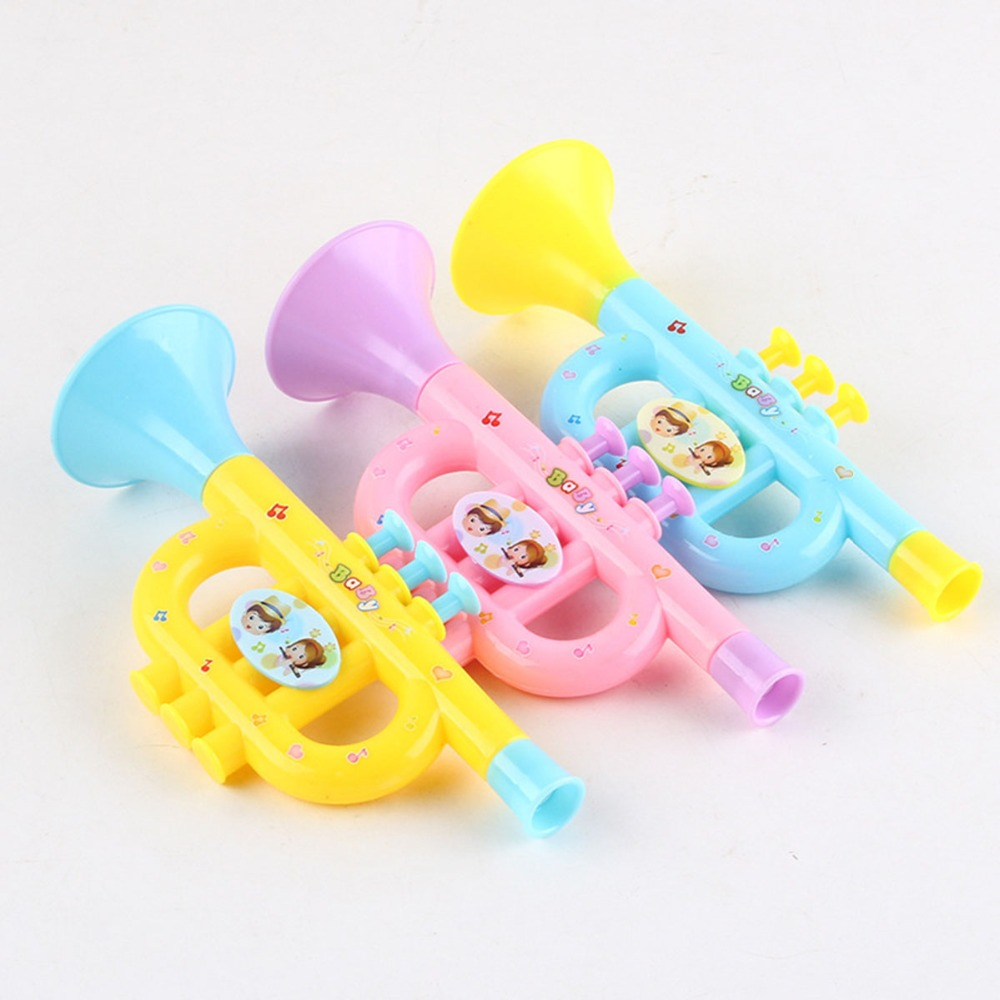 Toy Musical Instrument plastic colorful Trumpets Colorful  Kids  Early Education  plastic baby children early education toys kid