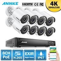 ANNKE 8CH 4K Ultra HD POE Network Video Security System 8MP H.265 NVR With 8PCS 8MP Weatherproof IP Camera Surveillance CCTV Kit