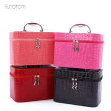 3pcs/set Stone Pattern Makeup Organizer Travel Beauty Cosmetic Case For Make Up Bolso Mujer Storage Bag