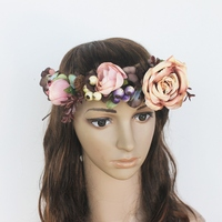 Women S Artificial Flower Wreath Headpiece Crown Flower Floral Garland For Wedding Bridal Deco And Hair