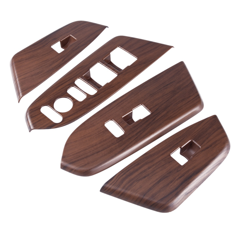 Peach Wood Car Grain Inner Window Switch Panel Cover for Honda Crv Cr-V 2017 2018