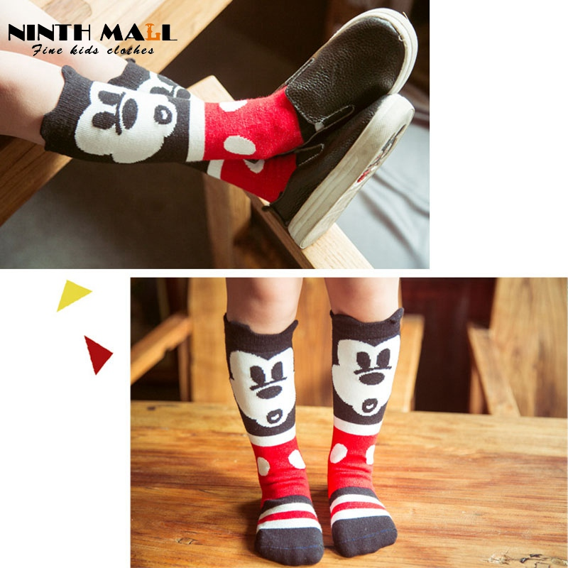 f15dd7ddd8c Baby Cartoon Minnie Mouse Socks Kids Cotton Knit Knee Long Socks Leg  Warmers Boys   Girls Clothing Calcetines SK09-in Tights   Stockings from  Mother   Kids ...