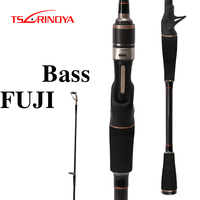 TSURINOYA PIONEER Spinning/Casting Fishing Rod Carbon 2.1m M/ML Power 2 Sections Lure Rod Eva Handle FUJI Guide Ring Rod Peche