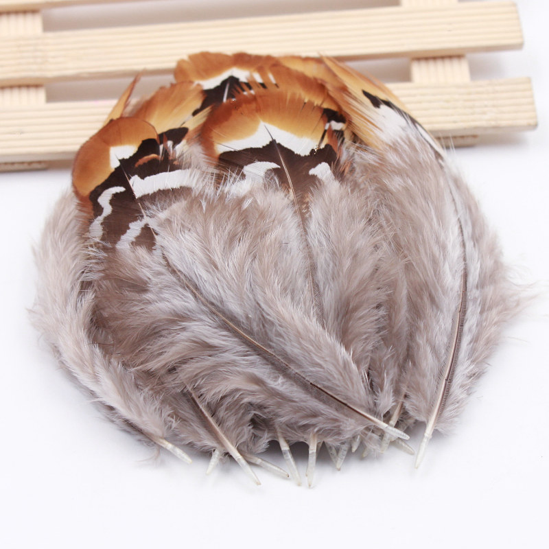 20pcs Brown Tan Rooster Feathers 10-15cm DIY Millinery Craft  Fly tying