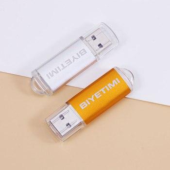 цена на BiYeTiMi Usb Flash Drive Real Capacity Beautiful Rainbown 8GB 16GB 32GB Memory Usb Stick 2.0 Pen Drive Pendrive For PC