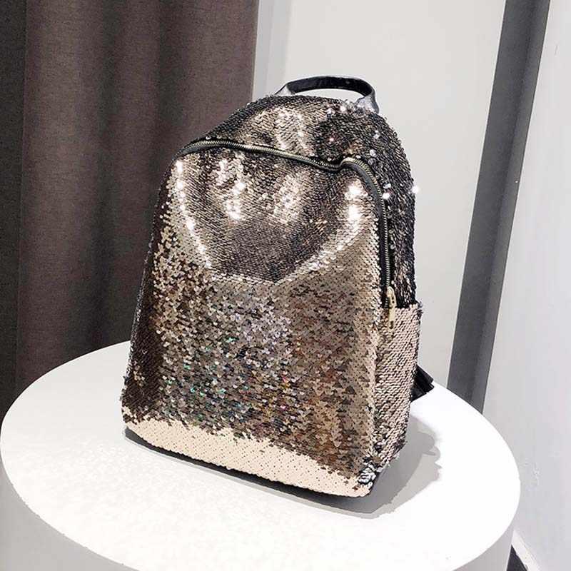 Блестящий рюкзак для женщин большой емкости Mochila Feminina 2019 кожаный рюкзак для девочек дорожные школьные сумки XA113H