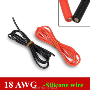 18 AWG Flexible Silicone Wire RC Cable 150/0.08TS OD 2.3mm Tinned Copper Wire Conductor to DIY 1 Meter