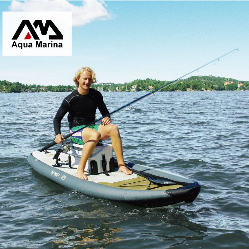 AQUA MARINA 330*97*15cm DRIFT inflatable sup board stand up paddle board kayak inflatable fishing boat цена