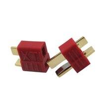 Детали игрушек на дистанционном управлении Т-образный штекер штекерные гнездовые разъемы для аккумулятора и ESC соединения для RC модели самолета LiPo части батареи 1