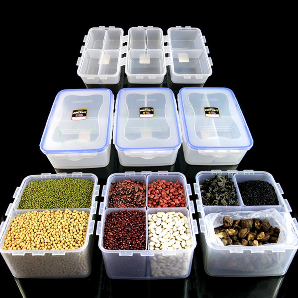 Transparent Multi Purpose 2 Grid Storage Box Case