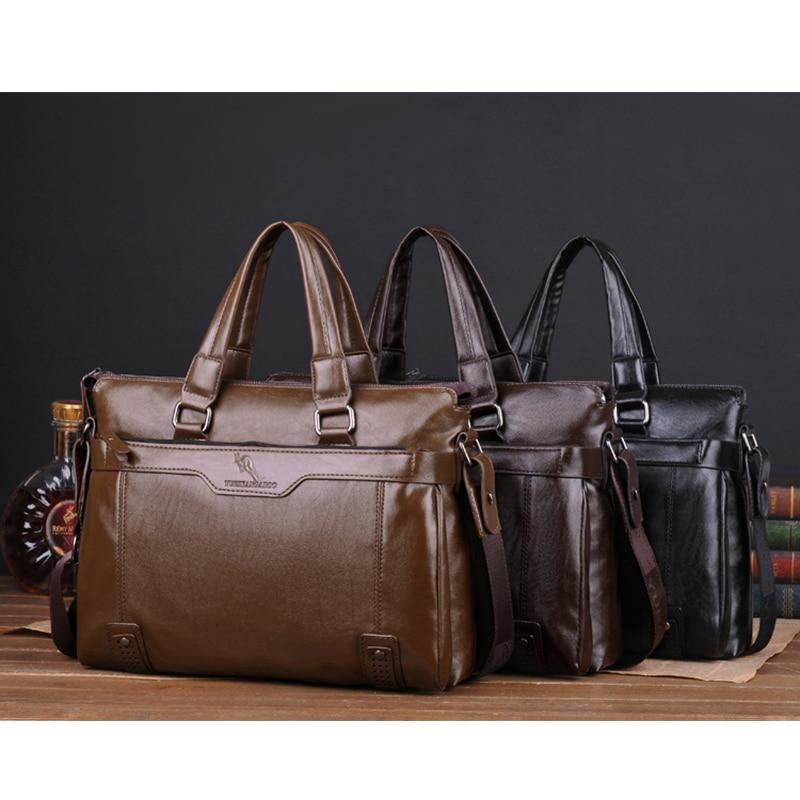 YUES KANGAROO Novi čovjek torbu kožna Business Messenger Bag - Torbe - Foto 6